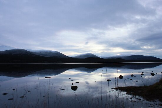 Sunset and Snow - Loch Morlich by jd-photography