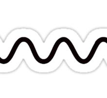 Feynman Diagram - Black Sticker