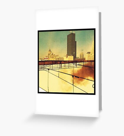 uncertain city Greeting Card