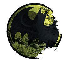 Deathstar Batman Popart logo Photographic Print