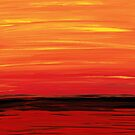 Ruby Shore - Red And Orange Abstract by Sharon Cummings