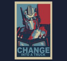 Transformers Change Into A Truck, With Border by JcDesign