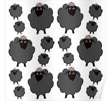 A whole flock of Black Sheep Poster