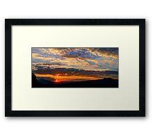 ©HCS Sunset Sun II Panorama Framed Print