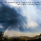 Storm Rainbow - quotation by Kiarn