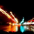 Speeding through a rainy night by AndreCosto