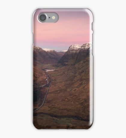 Moon over Glen Coe iPhone Case/Skin