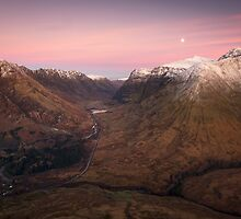 Moon over Glen Coe by NeilBarr