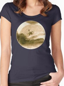 Surfer - Antiqued Women's Fitted Scoop T-Shirt