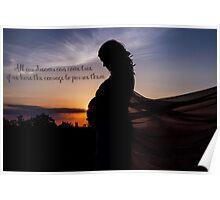 Beautiful Sunset Silhoette Poster