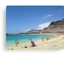 Canary Island Beach Canvas Print