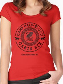 Percy Jackson - Camp Half-Blood - Cabin Six - Athena Women's Fitted Scoop T-Shirt