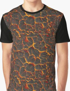 Texture fiery lava Graphic T-Shirt