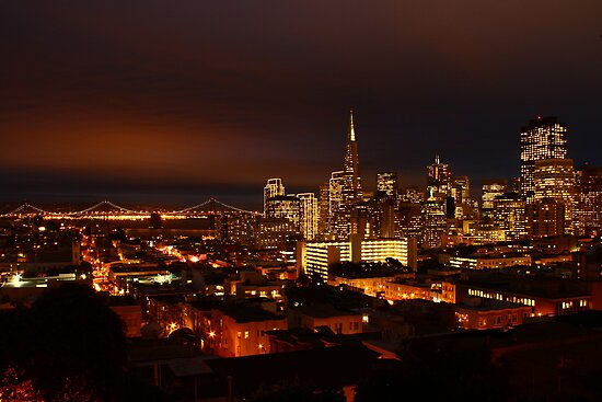 San Francisco Dressed in Lights  by fototaker