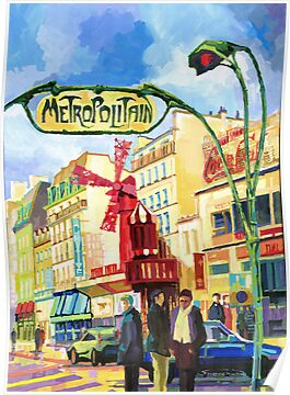 Paris Metropolitain Blanche Moulin Rouge by Yuriy Shevchuk