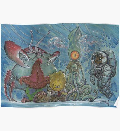 Sponge Robert Strange Pants and Friends Poster