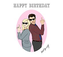HAPPY BIRTHDAY Ben and Leslie Parks and Recreation Photographic Print