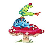 Leap Frog On a ToadStool Photographic Print