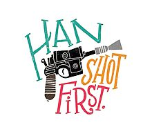 Star Wars - Han Shot First Photographic Print
