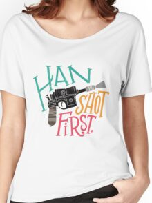 Star Wars - Han Shot First Women's Relaxed Fit T-Shirt