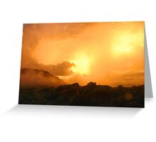 Double Sunset Greeting Card