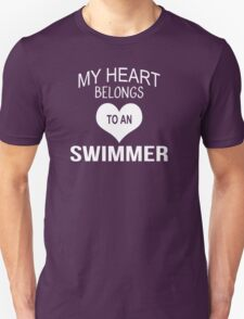 My Heart Belongs To An Swimmer - Tshirts & Accessories T-Shirt
