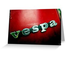 Vespa Red Greeting Card