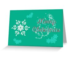 Merry Christmas happy holidays card with snowflake Greeting Card