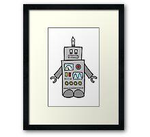 Robot Friend 1000 Framed Print