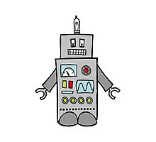Robot Friend 1000 Photographic Print