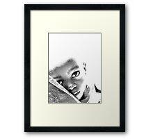 Child Face Framed Print