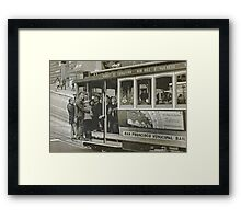 San Francisco Cable Car in B&W Framed Print