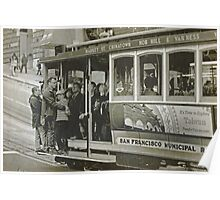 San Francisco Cable Car in B&W Poster