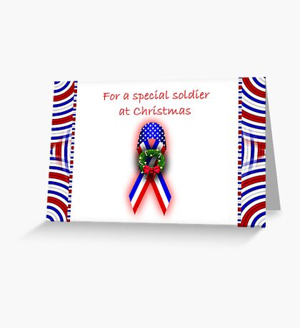Merry Christmas card for soldier Greeting Card