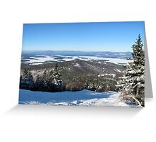 Down The Slope Greeting Card