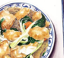 Fish and Tofu Noodles by debramorris