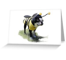 DJ the Bumble Bee Boston Greeting Card