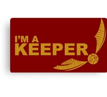 I'm a Keeper - Yellow ink Canvas Print