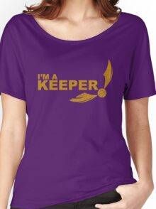 I'm a Keeper - Yellow ink Women's Relaxed Fit T-Shirt