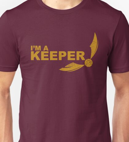 I'm a Keeper - Yellow ink Unisex T-Shirt