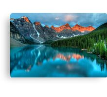 Moraine Lake Sunrise Canvas Print