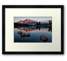 Lake Minnewanka Sunrise Framed Print