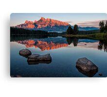 Lake Minnewanka Sunrise Canvas Print