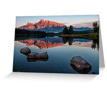Lake Minnewanka Sunrise Greeting Card