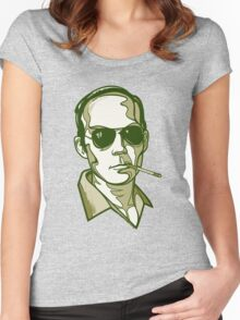 Hunter S. Thompson green Women's Fitted Scoop T-Shirt