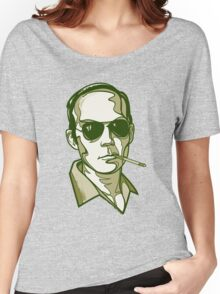 Hunter S. Thompson green Women's Relaxed Fit T-Shirt