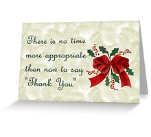 Christmas card for customers from business - Christmas wreath Greeting Card