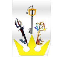 Kingdom Hearts Keyblade Crown Poster