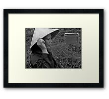 My Lai massacre - at the irrigation ditch where bodies of villagers of all ages were dumped by U.S. soldiers.  Framed Print