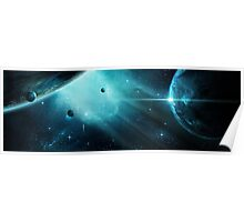 Aqua Nebula Poster